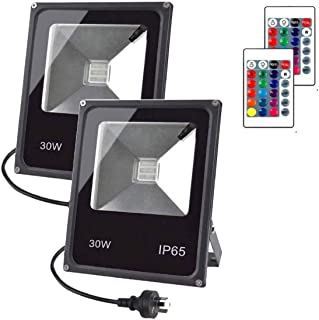 LED RGB Flood Light Stage Lighting, IP65 Waterproof Tree Light, 30W Outdoor Color Changing Lights With Remote Control Floo...