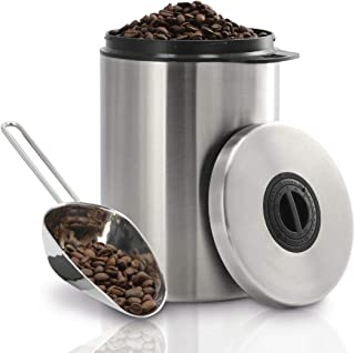 Xavax | Stainless Steel Container for 1 kg with Scoop Stainless | Steel Silver | One Size, 00111250