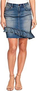 Vintage America Blues Women's Straight Denim Skirt, Wisteria Light