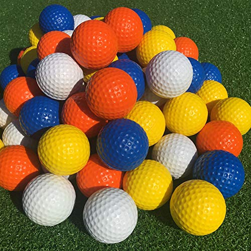 SkyLife Multicolor Golf Practice Balls 16 Count, Soft Golf Foam Balls for Indoor Outdoor Backyard Training (Multicolor 16pcs)