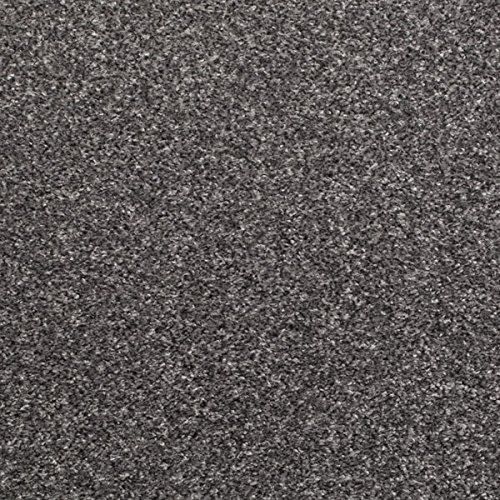 Flecked Twist Pile Carpet Roll, Hardwearing Action Backed Carpets (3m x 4m, Silver