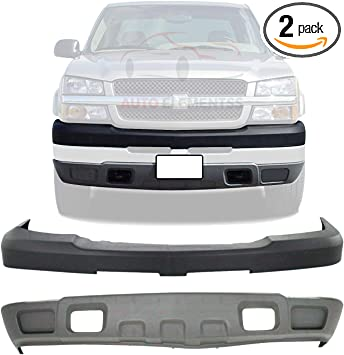 Amazon Com New Front Bumper Upper Cover Textured Lower Valance Air Deflector Textured Without Fog Light Holes For 2003 2006 Chevrolet Silverado 2500hd 3500hd Direct Replacement 15139804 10398000 Automotive
