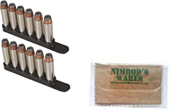 Nimrod's Wares Bianchi .38 .357 Revolver 2 x Speed Strips 6 Rounds 20056 Bundle Microfiber Cloth