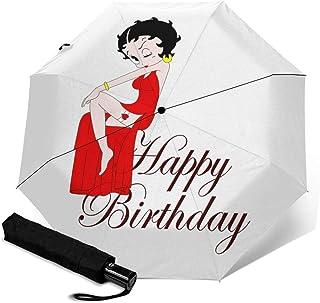 Betty Chan 1 折叠伞 一键自动开合 [最新版&2层构造] 抗强风 超防水 210t高强度玻璃纤维 防紫外线 隔热 结实 附带雨伞套