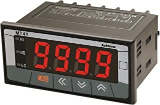 AUTONICS MT4Y-DV-43 Meter, DC Volts, LED, W72xH36mm, 4-Digit, 0-500V Input, Relay output + Transmission output (DC4-20 MA),100-240 VAC