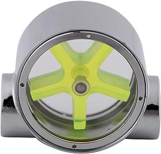 SANON Flow Meter Indicator, Wolfraam Legering G1/4 Standaard Vrouwelijke naar Vrouwelijke Draad Computer Waterkoeling Flow...