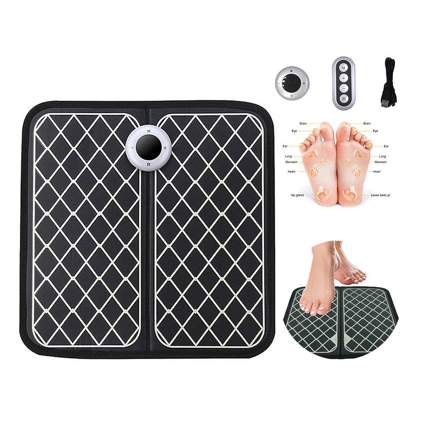本質的に水っぽい精査する電気フットマッサージマット鍼灸マッサージの足は、マシンビューティーフットバイブトレーニング筋肉理学折り畳み式リモコン付きリラックス