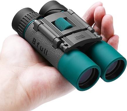 Prismáticos pequeños y potentes para Adultos y Niños, BFULL 10x25 Mini Prismaticos Compactos Binoculares Profesionales Portátil para Viaje/Turismo/Caza/Observación de Aves/Concierto