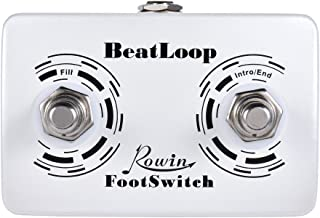 ammoon Rowin BeatLoop Dual Footswitch Foot Switch Pedal for Rowin BEAT LOOP Recording Effect Pedal with 6.35mm Cable