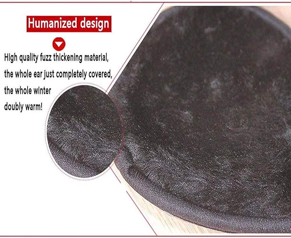 XRDSS Men's Winter Warm Foldable Ear Warm PU Leather Earmuffs Windproof Fleece Earmuffs