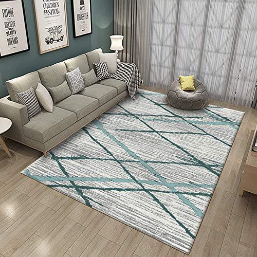 SN HUIPENG Northern Europe Modern Simplicity - Alfombras grandes para sala de estar, dormitorio, alfombra vintage, mostaza, antideslizante, alfombra pequeña, 50 x 80 cm