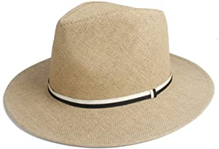 Sun Hat for men and women Beach Hat Sun Hat Straw Summer Solid Color Hat Pinstripe Strip Decoration Unisex Casual Beach Hat Big Wings Jazz Sun Hat Panama