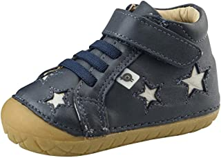 Old Soles Boy's and Girl's Reach Pave Premium Leather First Walker Sneaker Shoes