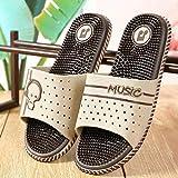 LIUCHANG Ducha Zapatos Playa Piscina, casa de masajes Sandalias y Zapatillas de Interior, Antideslizante Zapatillas-Brown_38 Suave Suela, Ducha de Playa Piscina Zapatos liuchang20