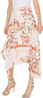 Women's Ruffle Front Skirt with Tie Belt