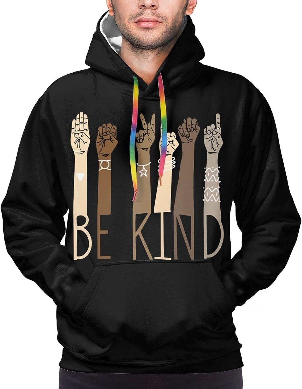 Hoodie For Mens Womens Teens Teachers Be Kind Sign Language Hand 3d Printed Hooded Sweatshirt