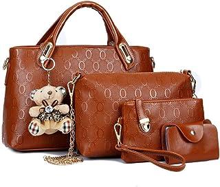 Bolso femenino de moda europea y americana oso portátil conjunto de cuatro piezas bolso de madre e hija bolso de hombro bolso de mensajero