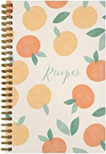 "Softcover Sweet Recipes 5.5"" x 8.5"" Spiral Recipe Notebook/Journal, 120 Recipe Pages, Durable Gloss Laminated Cover, Gold ..."
