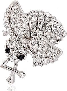 3D Animal Pearl Rhinestone Crystal Vintage Enamel Brooch Pin Brooches Fox Owl | StyleID - 15@Bee