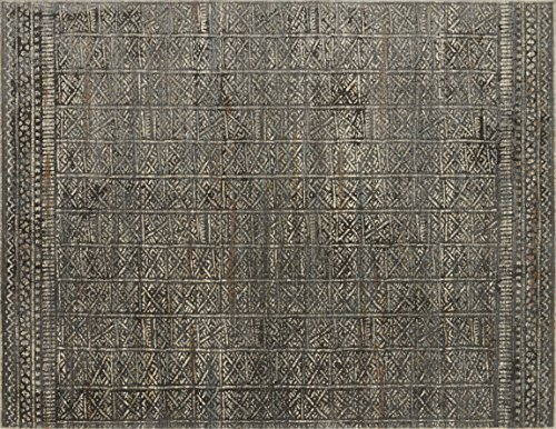 Loloi   JV-06  Javari Collection  Distressed Modern  Area Rug  9' x 12'6'  Charcoal / Silv