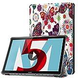 Huawei MediaPad M5 10.8 inch Case, Huawei MediaPad M5 8.4 inch Case, Gylint Smart Case Trifold Stand with Auto Sleep/Wake for Huawei MediaPad M5 8.4/10.8 inch Tablet (Butterfly, M5 10.8 inch)