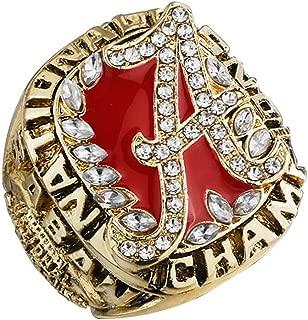 HN Creatife NCAA 2009 Alabama Championship Ring Alloy Jewelry Collection Desktop Decoration