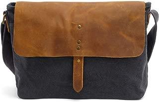 Mens Bag Vintage Canvas Briefcase Crossbody Day Bag for School and Work Multiple Pocket Men's Messenger Shoulder Bag High capacity