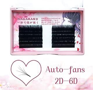 NAGARAKU Eyelash Extensions Easy fan lash Russian eyelash Volume lashes Auto fans 2D-6D Mixed Length In One Line Faux Mink Eyelash 0.03mm C-8-10-12 mix