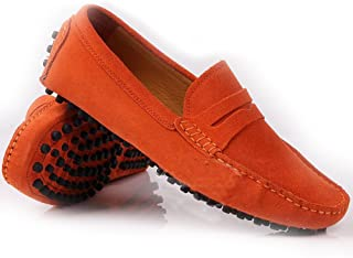 fa58279d2e52a Fulinken Men s Suede Leather Moccasin Slip on Penny Loafers Causal Mens  Shoes
