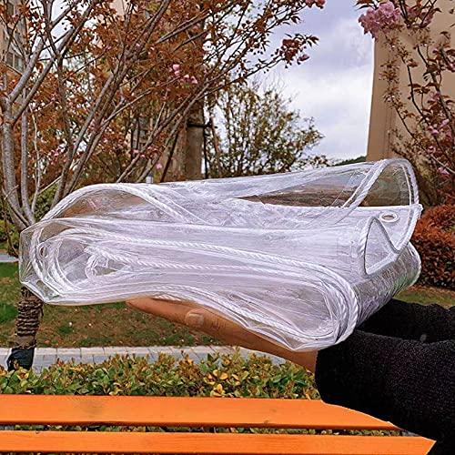 Lona Impermeable Transparente Toldo Alquitranada Tela de Plástico PVC Exterior Protector,Lona de Plástico de PVC para Casa Jardín Externo,Coverup Plantas, 0,32 mm de Espesor (1x2m(3.3*6.6ft))