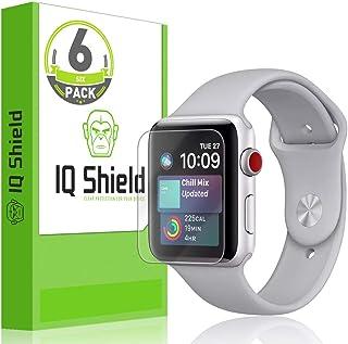واقي شاشة IQ Shield متوافق مع Apple Watch (42mm S1, S2, S3) (6 Pack) (Ultimate) طبقة شفافة مضادة للفقاعات