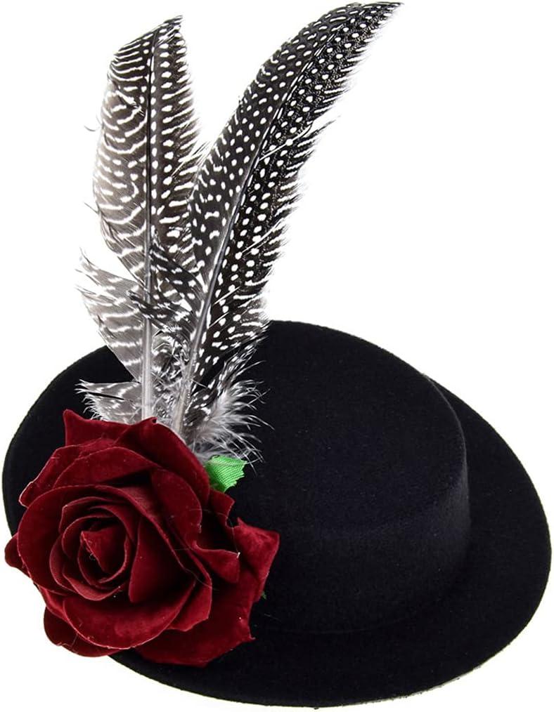 Licogel Fascinator Hat Vintage Small Decorative Costume Fascinat