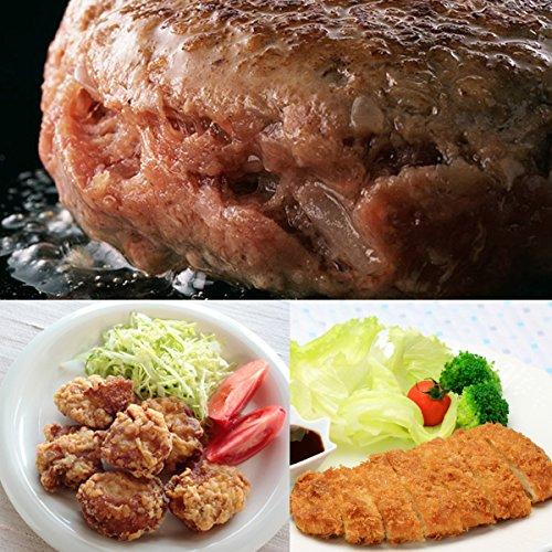 鳥肉 人気 お惣菜 3点セット [ ハンバーグ / 唐揚げ / チキンカツ ] お惣菜 お弁当 【 冷凍 】