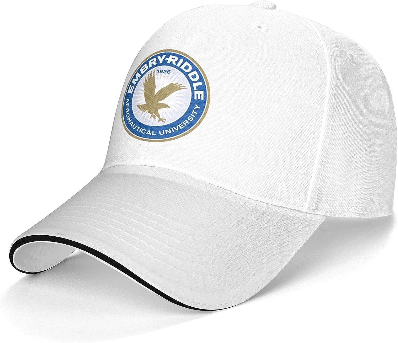 Marsheng Embry-Riddle A Aeronautical University-Daytona Beach Log Cap,Baseball Cap Trucker Hat Suitable for Students White