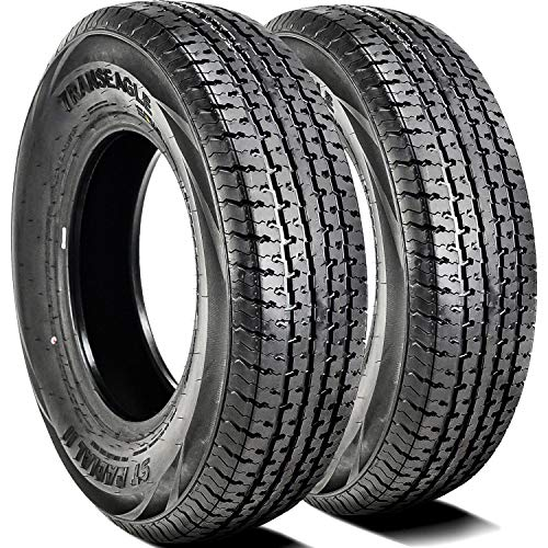 Set of 2 (TWO) Transeagle ST Radial II Steel Belted Premium Trailer Tires-ST215/75R14 108/103L LRD 8-Ply