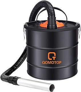 QOMOTOP Aspirador de Ceniza, 800W 18L, Soplador 140W, Cable