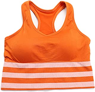 EFINNY Sport Bra Chest Pad Bra Beauty Back Seamless Integrated Sports Bra Yoga Underwear Striped Stitching Vest