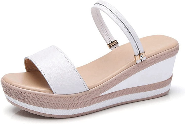 GIY Women's Casual Platform Ankle Strap Slide Open Toe Anti-Slip Slip On Wedge Sandals