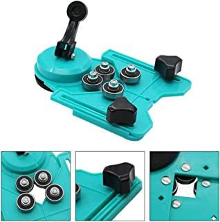 Drill Bit Hole Saw Guide Jig Fixture Adjustable Diamond Hole Cutter Centering Locator Holder With Vacuum Base Sucker Openings Locator
