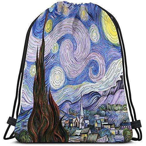 Turnbeutel,Gym Sack Beutel,Sporttaschen,Kordelzug Taschen,Tüte,Malvorlagen Sackpack Van Goghs Sternenklare Nacht Für Erwachsene Ausmalbilder Van Goghs Sternenklare Nacht Für Erwachsene Ausmalbilder Ka