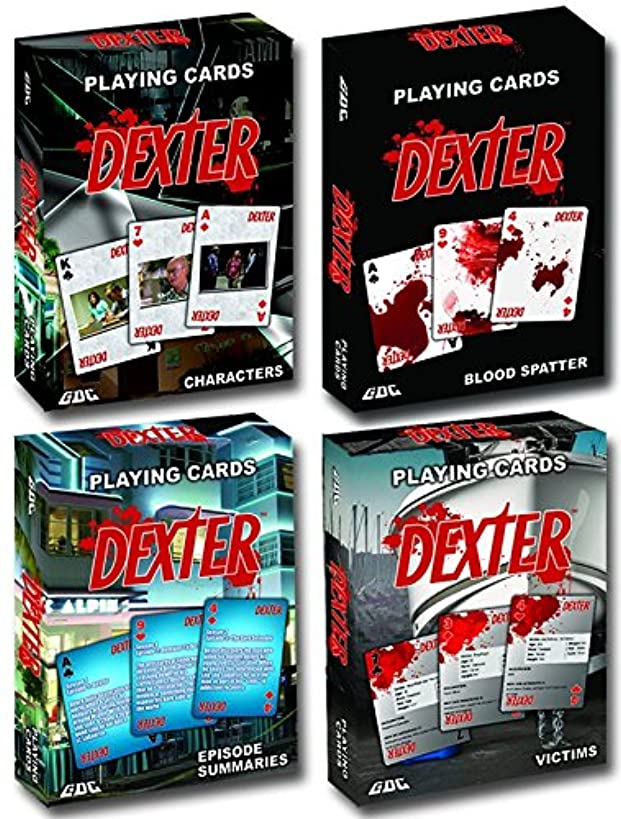 GDC-GameDevCo Ltd. Dexter Playing Cards, 4-Pack