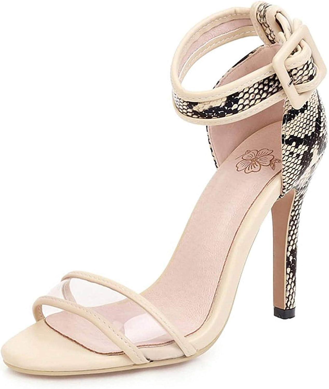 WDZJM Sandals Sexy Stiletto 10.5 cm Heel Max Superior 56% OFF Buckle Stra high Super