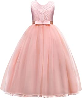 a6d828d73 Jurebecia Girls Prom Ball Gown Kids Lace Tulle Wedding Party Dresses Girls  Pageant Formal Dress 5