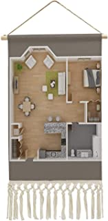 C COABALLA 3D Floor Plan Plan - Document,Room Decorations House Home Decoration 10``x14.9`` (WxH)