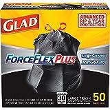 Glad ForceFlex Bolsa de Basura, Negro, Large