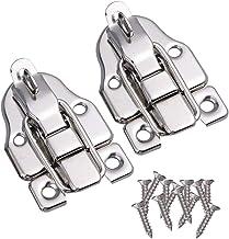 UPKOCH 2 stuks spansluitingen, antieke koffer, slot, kast, vergrendeling, zilver, lade, gereedschapskist, houten kist, sch...
