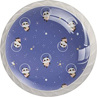 Poignées de Tiroir pour armoire,tiroir,coffre,commode,etc.. Conception De Panda De Dessin AniméBlue S