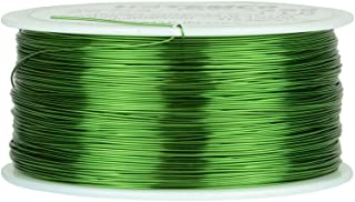 TEMCo 26 AWG Copper Magnet Wire - 1 lb 1258 ft 155°C Magnetic Coil Green