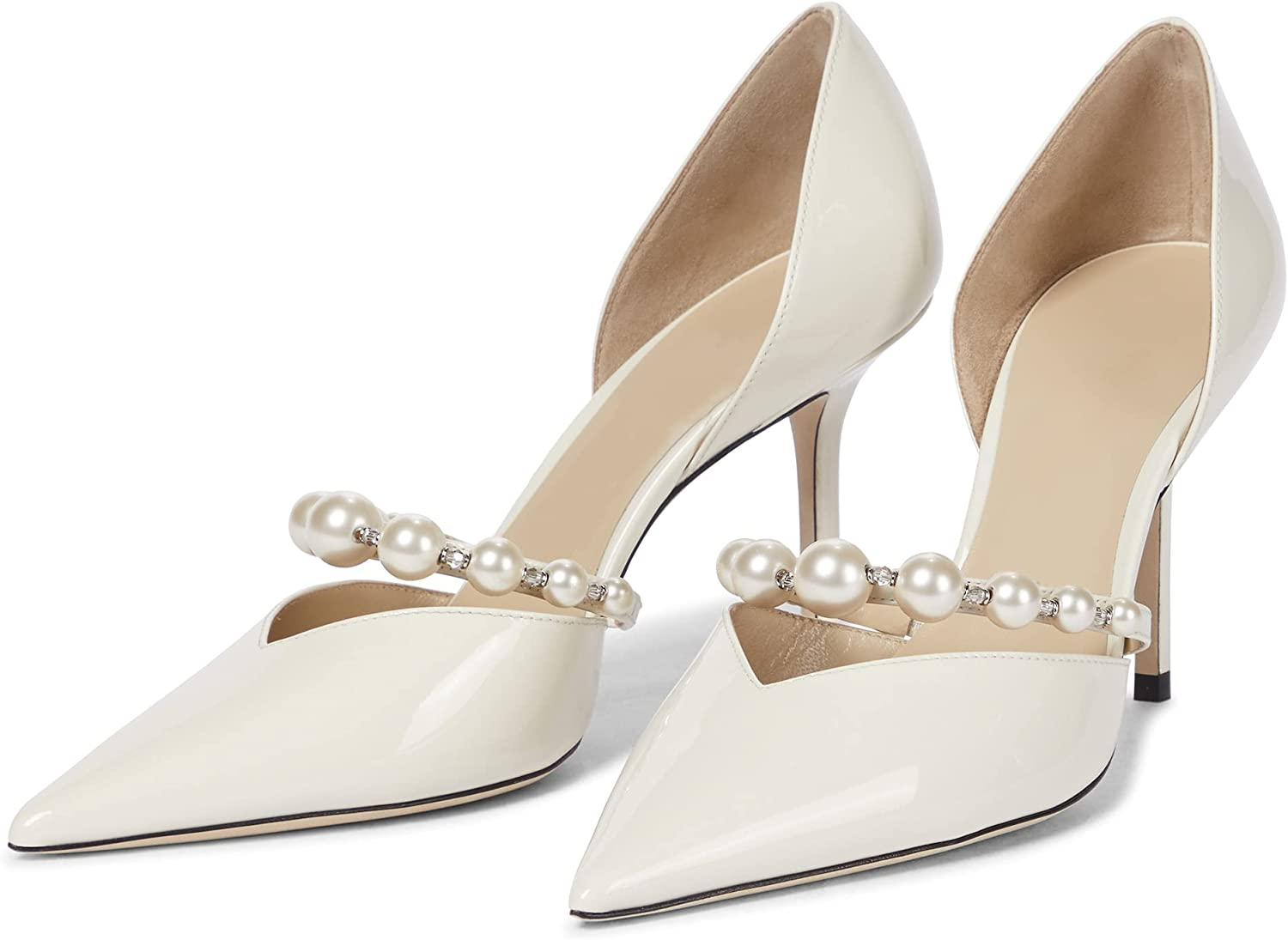 Syktkmx Womens Japan Maker New Stiletto Pumps Thin D'Orsay A surprise price is realized Heels High Toe Point