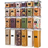 Airtight Food Storage Containers with Lids, Vtopmart 24 pcs Plastic Kitchen and Pantry...